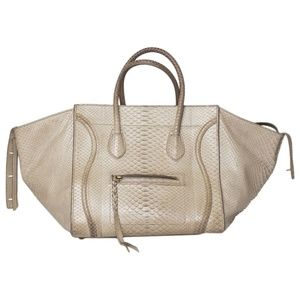 CELINE LUGGAGE PHANTOM PYTHON HANDBAG